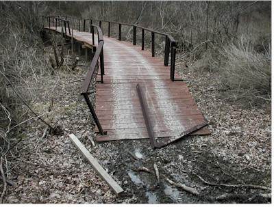Damage on Eastern Trail caused by ATV use