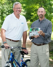 Biddeford Savings Banks donated 10,000 maps to the ETA to encourage use of the 65-mile greenway