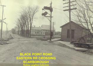 Old Eastern RR crossing Blackpoint Road in Scarborough