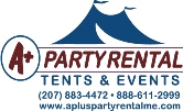 A Plus Party Rental logo