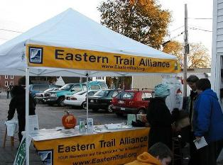 ETA Information Booth - telling others about the Eastern Trail