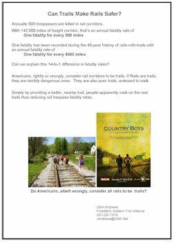 image of handout titled Can Trails Make Rails Safer?