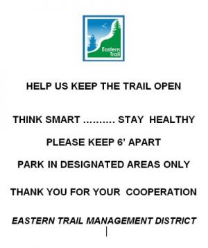 Keep 6 feet apart on the trail