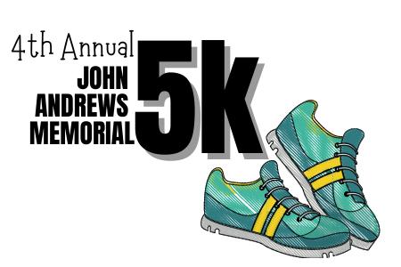 John Andrews 5k logo