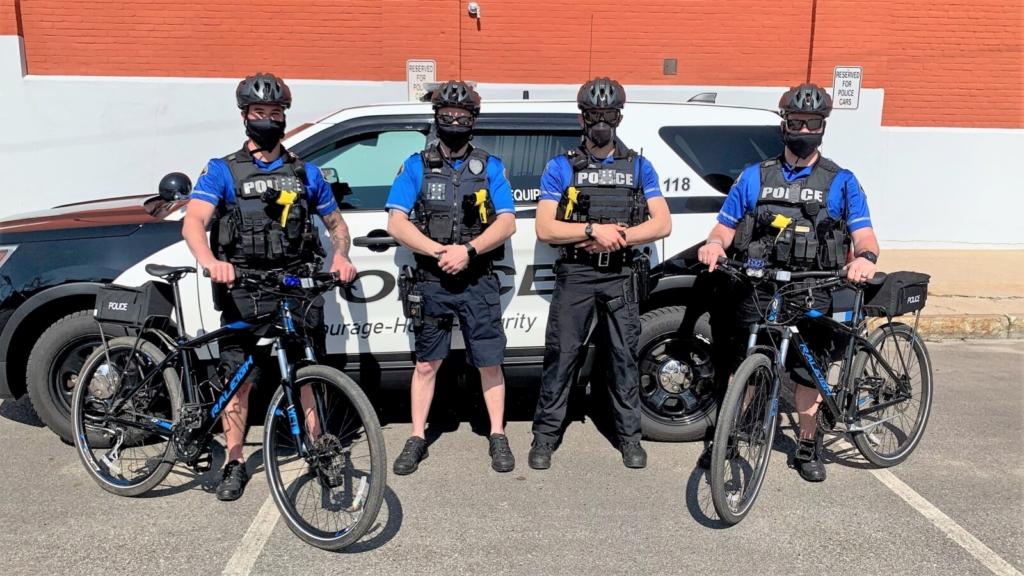 Biddeford Police on Bicycles