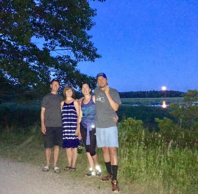Walkers on an ET Full Moon Walk