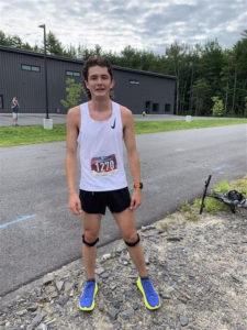 Runner at 2021 John Andrews 5k race